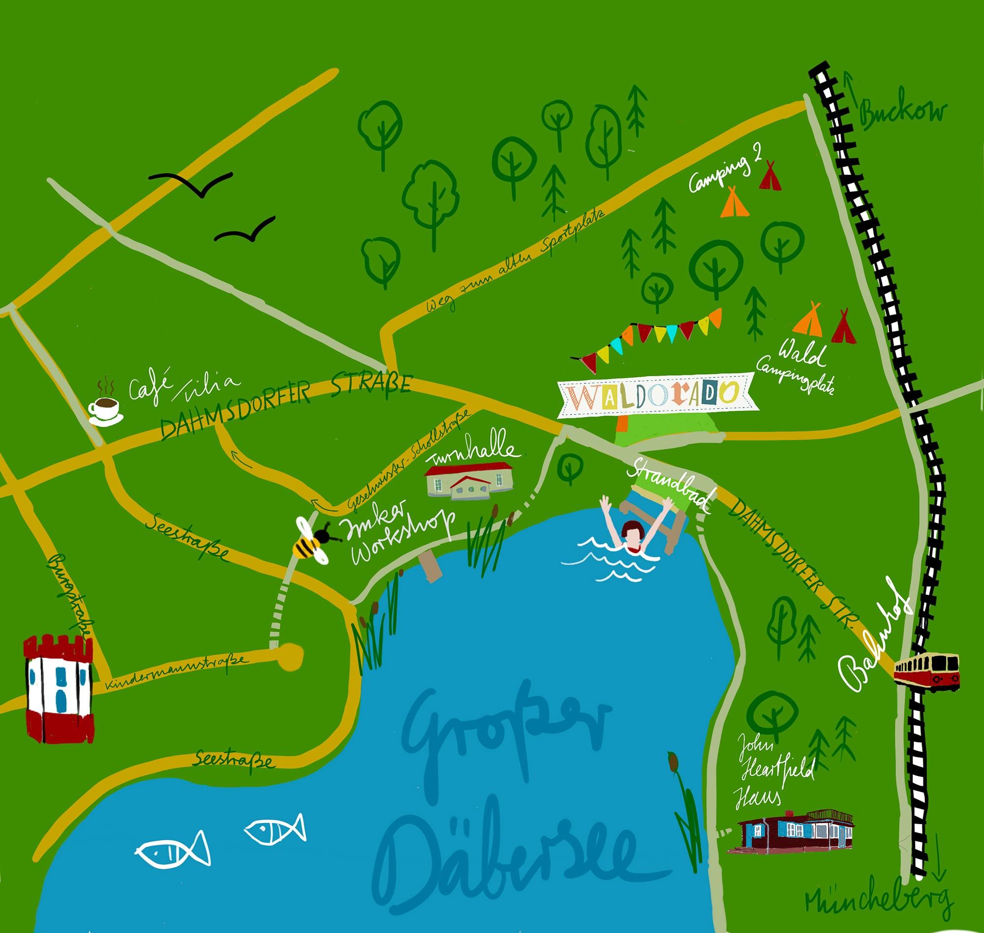Lageplan Waldorado Festival